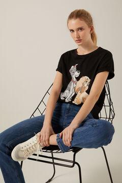 """Springfield Organic cotton """"La Dama y el Vagabundo"""" T-shirt black"""
