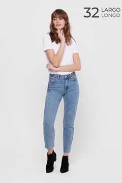 Springfield Straight high rise jeans bleuté