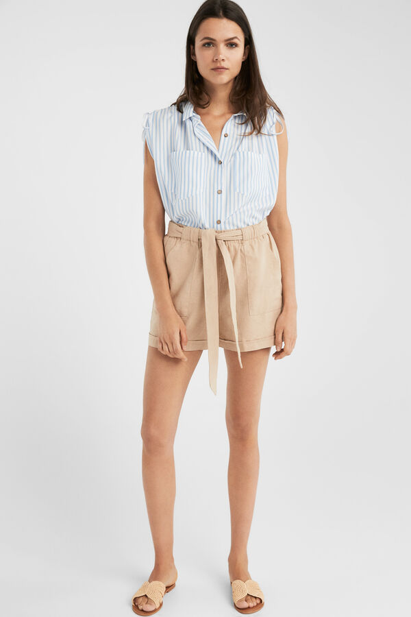 2d66da3f9 Springfield Flowy shorts with pockets brown