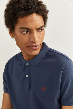 Springfield ESSENTIAL SLIM FIT POLO SHIRT bluish