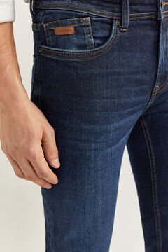 Springfield DARK WASH SLIM FIT JEANS blue