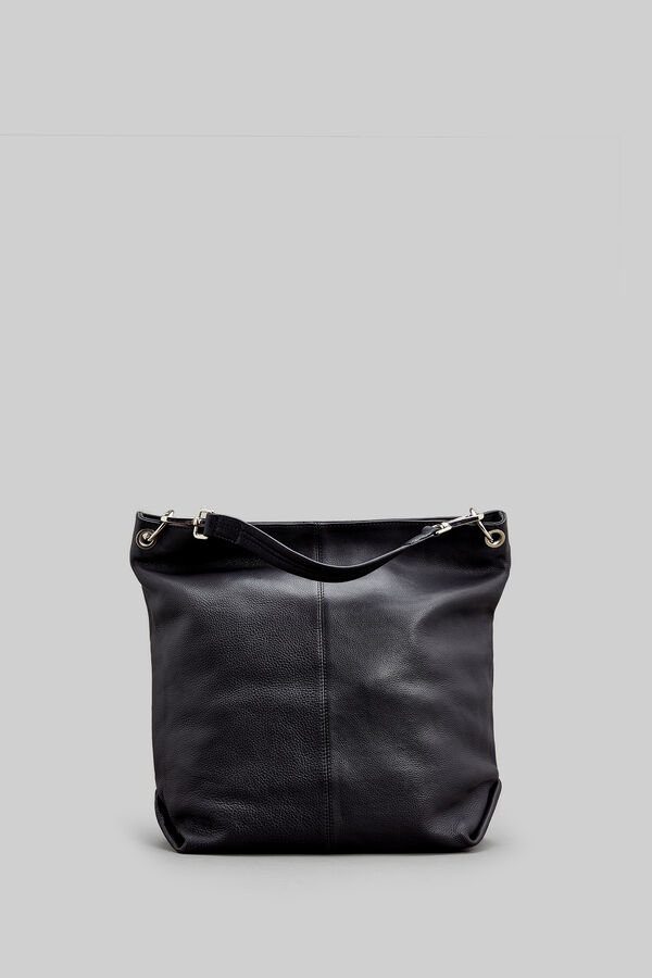Springfield Leather Bucket Bag Black