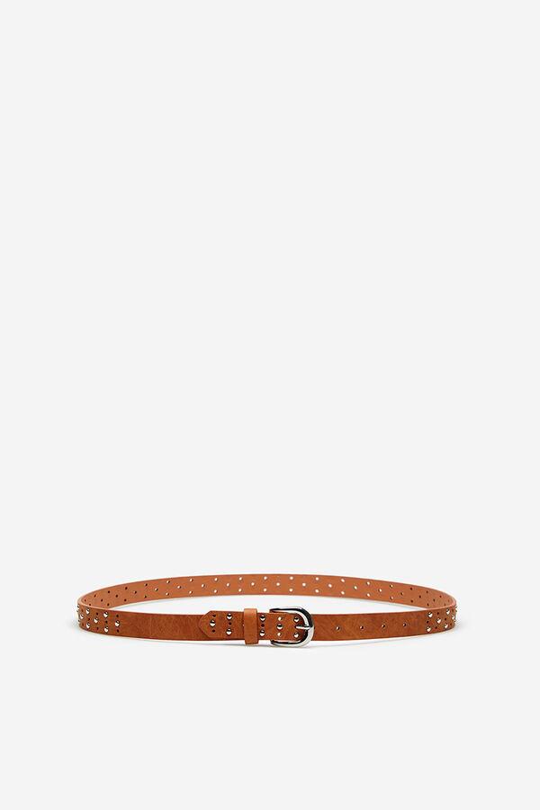 Springfield Cinturón tachas y perforados beige e447796c5eef