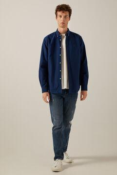 Springfield Coloured Oxford shirt blue