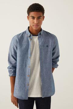 Springfield Camisa linho azulado