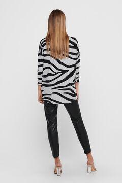 Springfield Printed 3/4-length sleeve blouse gray