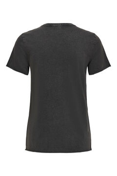 Springfield Printed short-sleeved t-shirt noir
