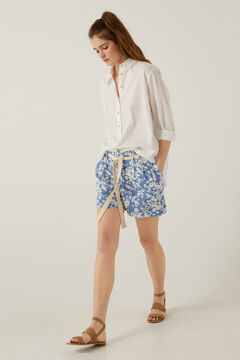 Springfield Bermuda shorts in sustainable linen royal blue