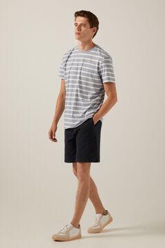 Springfield Essential striped T-shirt steel blue