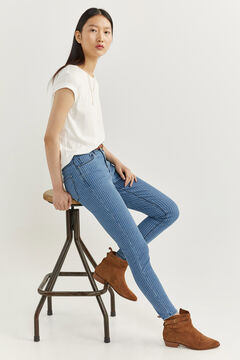 Springfield Jeans Slim Cropped blau