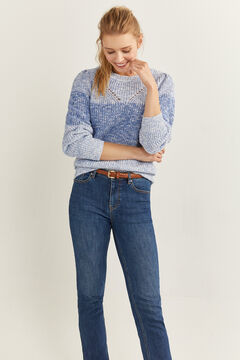Springfield Blue Colour Block Jumper bluish