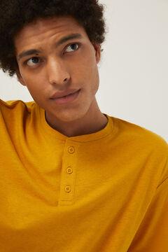 Springfield T-shirt linho camelo