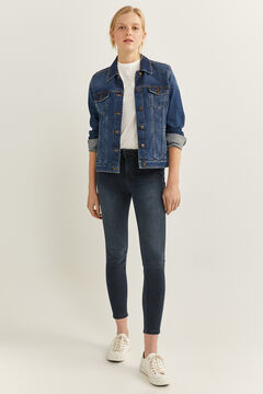 Springfield Jeans Slim Cropped marine mix