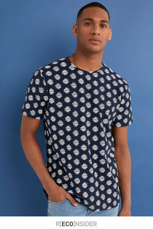 Springfield Camiseta manga corta all over etnico azul c513a4e8f8a