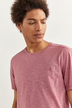 Springfield T-shirt textura bolso rosa