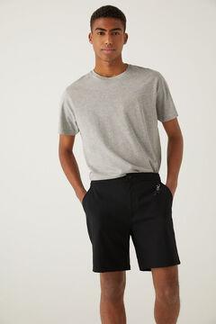 Springfield Quick dry stretch hybrid swimming shorts black