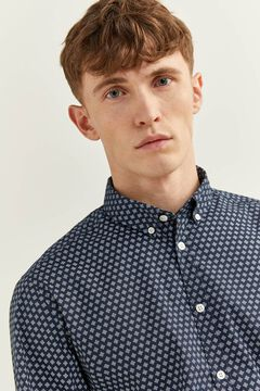 Springfield Liquid-repellent shirt navy mix
