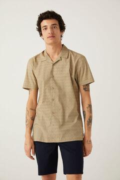 Springfield Floral print short-sleeved shirt brown