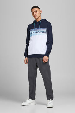 Springfield Colour block sweatshirt navy