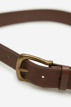 Springfield EMBOSSED FAUX LEATHER BELT brown