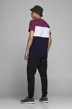Springfield Sustainable block colour t-shirt purple
