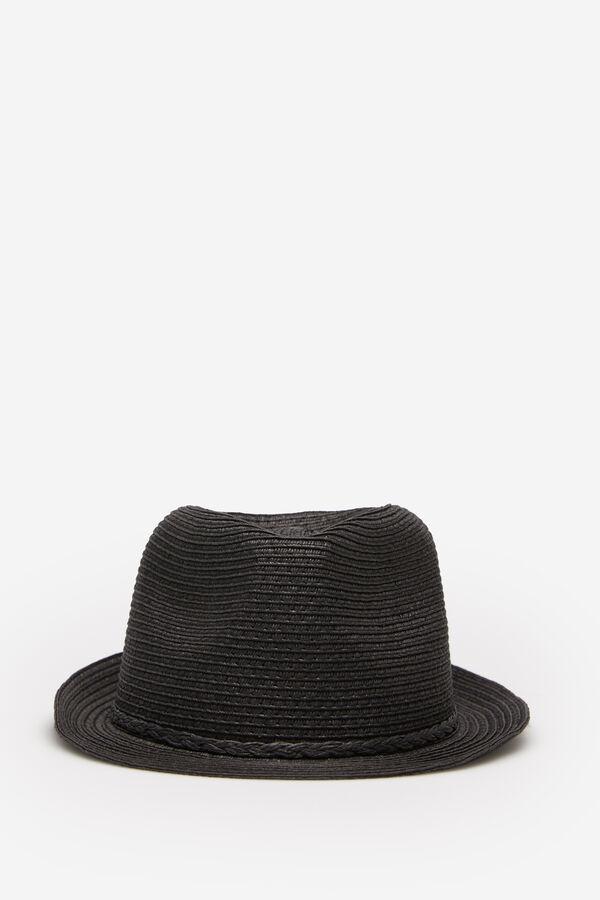 c1a3cf8bd498 Springfield Sombrero papel cinta trenzada negro