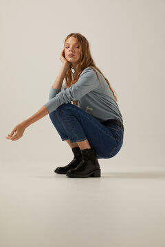 Springfield Sustainable Wash Mom Jeans blue