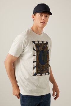 Springfield T-shirt Imprimé planète gris