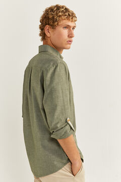 Springfield Textured shirt dark gray