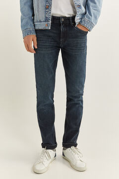 Springfield Very dark wash slim fit jeans mallow