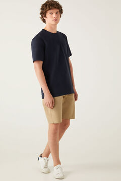 Springfield Boxy t-shirt with pocket blue
