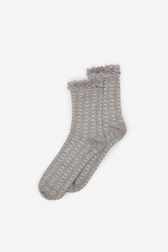 Springfield Lace Openwork Socks grey