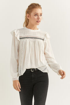 Springfield Flounced Romantic Blouse ecru