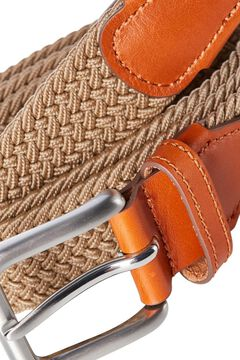 Springfield Classic braided belt brown