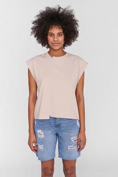 Springfield T-shirt with cutaway sleeves grey