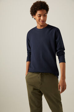 Springfield Boxy long-sleeved T-shirt blue