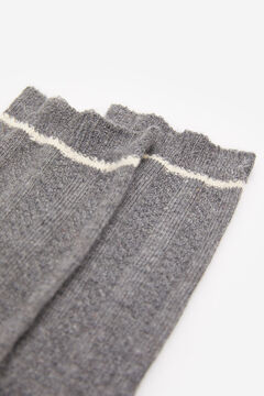 Springfield Ribbed Stripe Socks grey