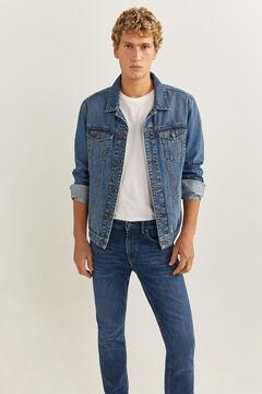Springfield Jeans skinny lavado oscuro azul