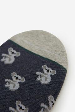 Springfield Jacquard no-show socks blue