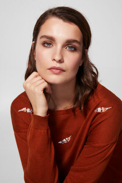 Springfield - Embroidered feather jumper - 4