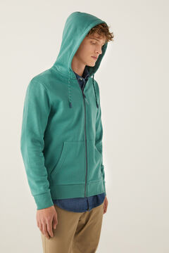 Springfield Essential zip-up sweatshirt green
