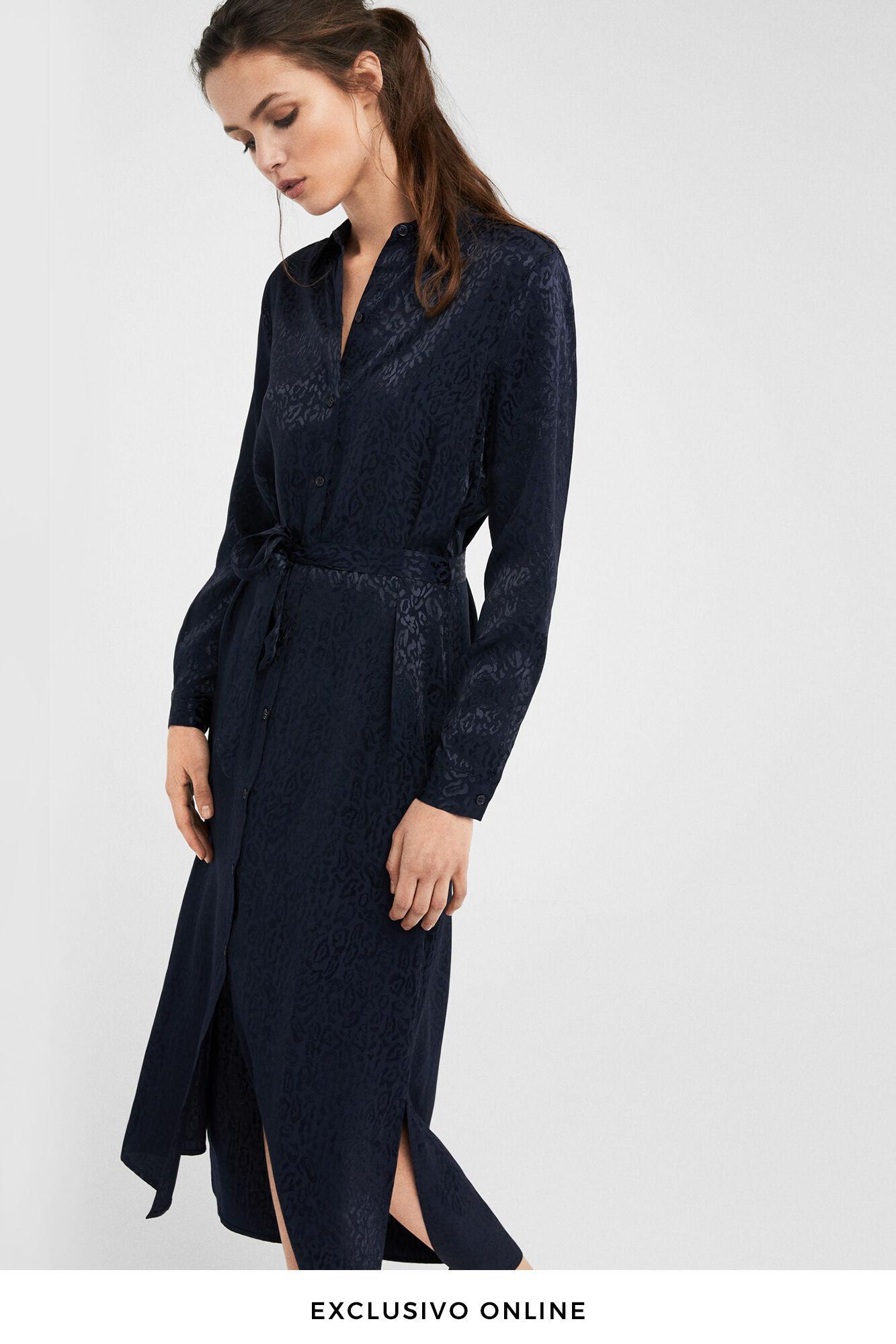 Comprar vestido camisero negro