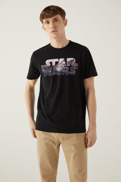 Springfield Star Wars póló fekete