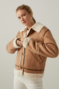Springfield Short double-faced jacket brown