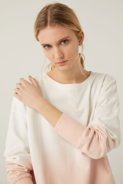 Springfield Sweat-shirt Tie and Dye Coton Biologique rose