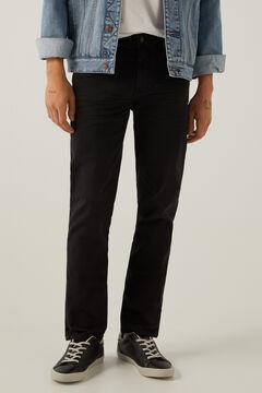 Springfield Pantalón 5 bolsillos slim lavado negro