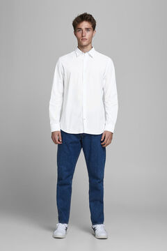 Springfield Sustainable poplin shirt weiß