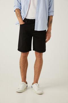Springfield 5 pocket slim distressed Bermuda shorts black
