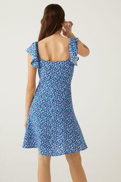 Springfield Short printed dress navy mix