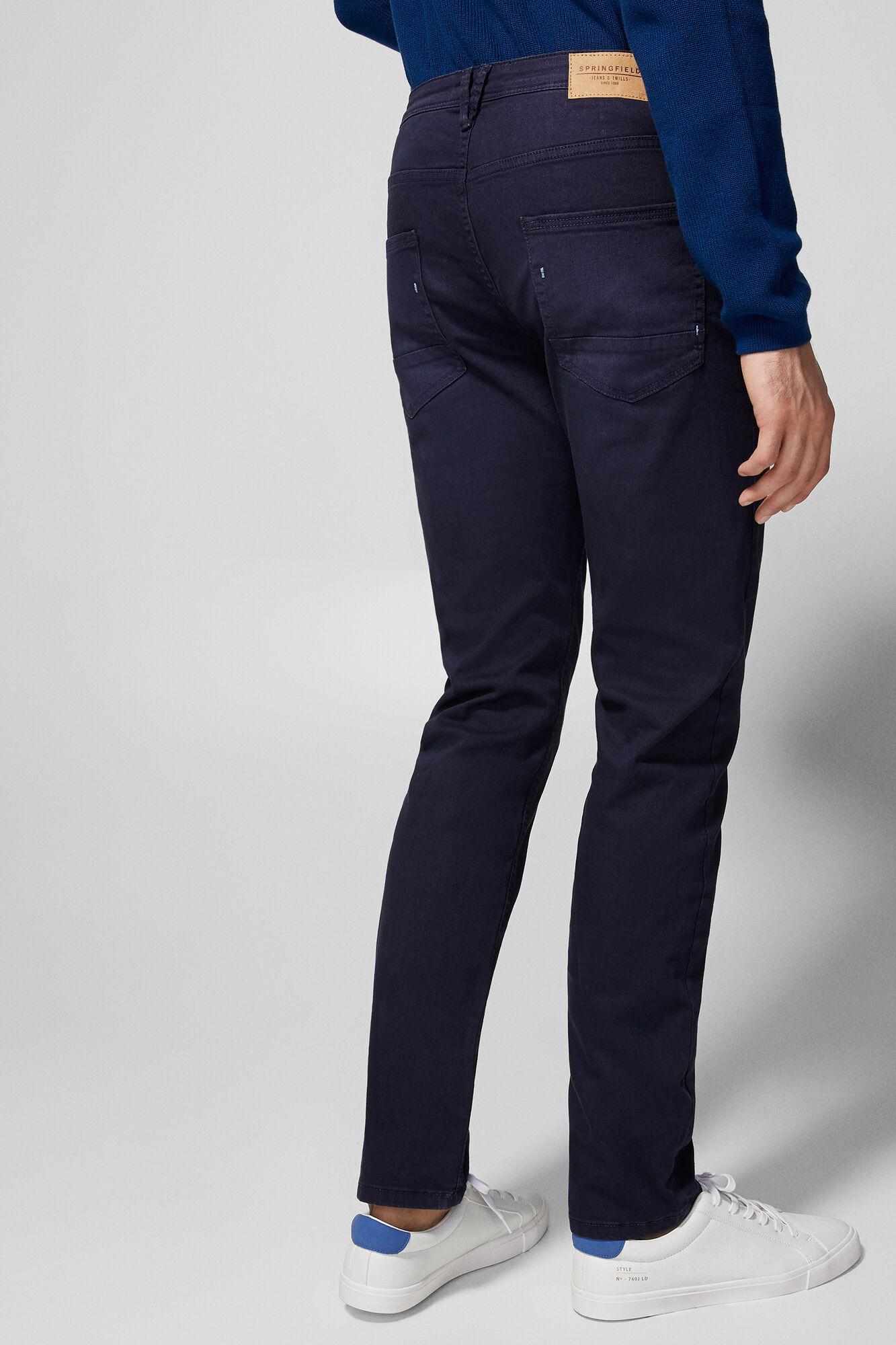 Springfield Pantalón 5 bolsillos slim azul 1c4f5e3ae8a9